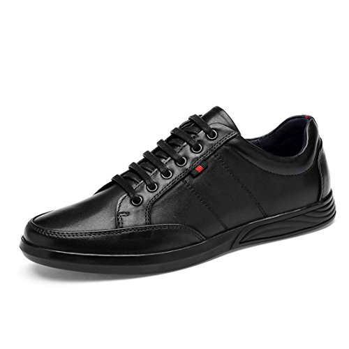 Minishion Boys Mens Lifestyle Soft Sole Daily Fashion Sneakers Black smBTykGKmq