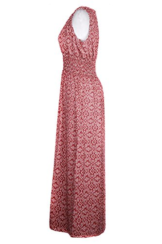 Summer Dress Sizes a6 Festival and Women's Chic and Regular G2 Plus Floral Spring Red wFqIAxa0