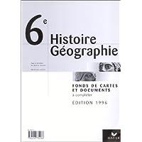 Histoire-géographie, 6e. Fonds de cartes et documents à compléter