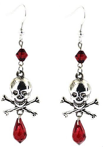 Skull & Crossbones Dangle Earrings Skull Crossbones Dangle