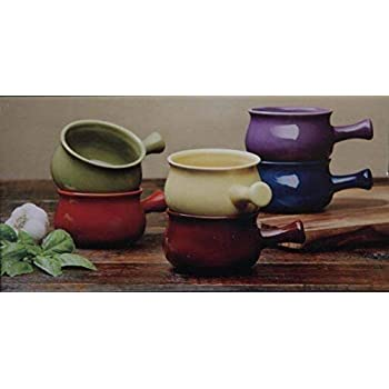 Amazon Com Stonewear Bowls 6 Piece Ceramic Soup Bowl Set