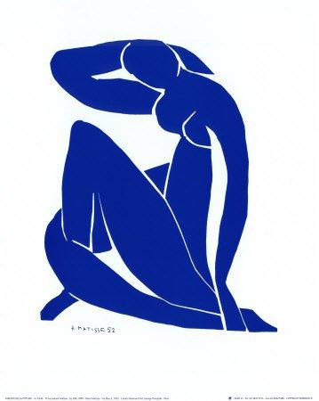 Blue Nude II Art Poster Print by Henri Matisse, 10x12