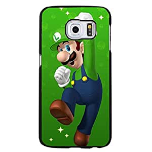 Samsung Galaxy S6 Edge+ Cover Case,Super Mario Phone Case Personal Animation Design Best Premium Mobile Cover with Classic Super Mario Film Pattern