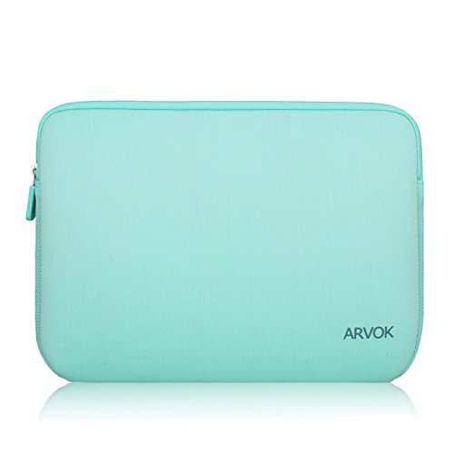 Arvok 15-15.6 Inch Laptop Sleeve Multi-Color & Size Choices Case/Water-resistant Neoprene Notebook Computer Pocket Tablet Briefcase Carrying Bag/Pouch Skin Cover For Acer/Asus/Dell/Lenovo, Light Green