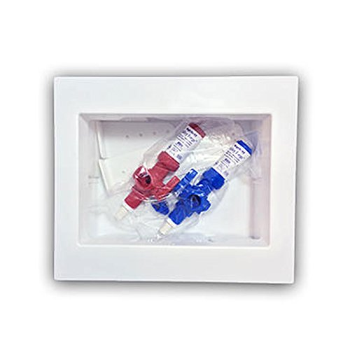 Ayrlett RB083 Un-Assembled Multi-Pro Washing Machine Box with 1/4 Turn Poly Alloy Valves and PEX Connection, Red/Blue by Ayrlett