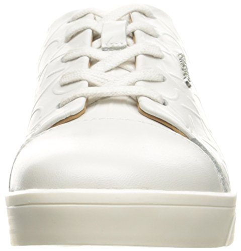 Calvin Klein Imilia Nappa Leather, Scarpe da Ginnastica Basse Donna, Bianco (Wht), 41 EU