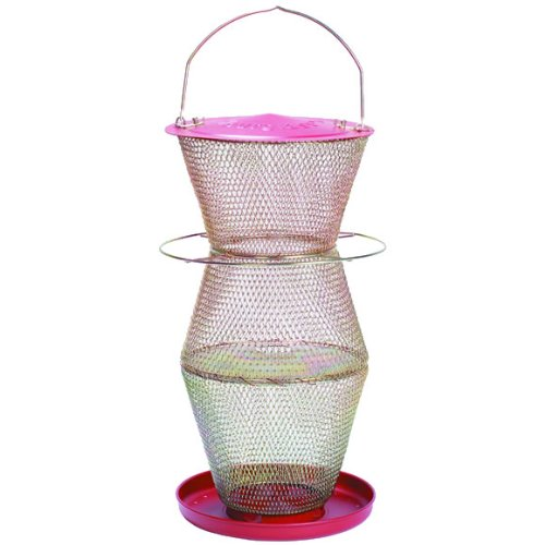 No/No Red and Brass Super Three Tier Bird Feeder  RB300335 by Perky-Pet