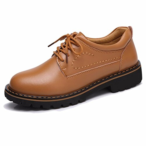 Cuir Oxfords en à Lacets Femme Marron1 Moonwalker Derbies cyxWnUppX