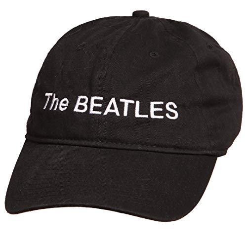 The Beatles White Album Logo Cap - Black (Adjustable)