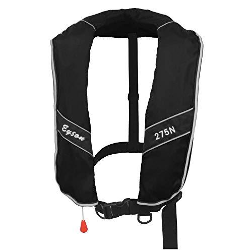 Eyson Automatic/Manual Inflatable Life Jacket Life Vest PFD 275N Buoyancy XXXL Size for Adults (Automatic Black) ()
