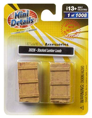 (Stacked Lumber Loads 2 Piece Accessory Set 1/87 (HO) Scale by Classic Metal Works)