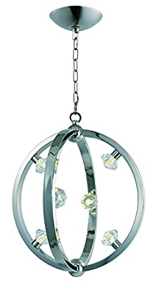 Maxim 39102BCPN Equinox LED Pendant, Polished Nickel Finish, Beveled Crystal Glass, G9 LED Bulb , 100W Max., Dry Safety Rating, Standard Dimmable, Glass Shade Material, 1150 Rated Lumens