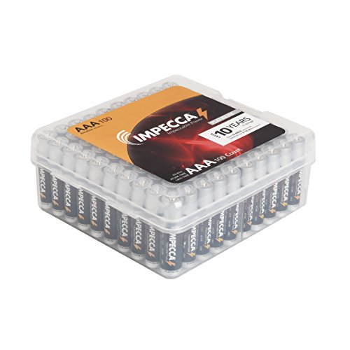 IMPECCA AAA Batteries All Purpose Alkaline Batteries 100Pack High Performance AAA Battery Long
