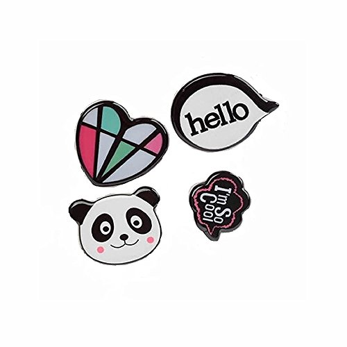 MAXGOODS Fashion Cute Cartoon Mini Brooch Safety Pins Lapel Pins Badge for Women Girls Children,Bear Panda Heart Music Smile Airplane Button Pins for Bag Clothes Hat Dress Jeans Decor Accessory - Ideas Valentinea Day
