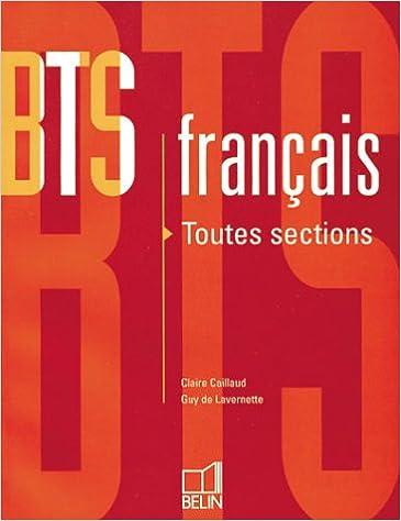 En ligne téléchargement BTS français : Toutes sections epub, pdf