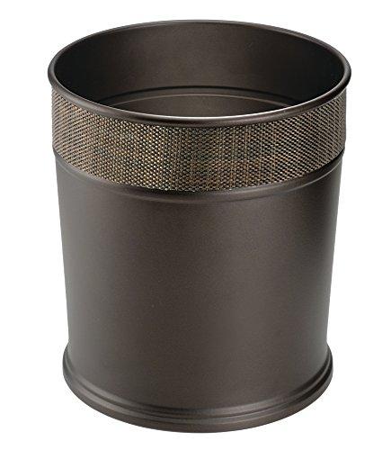 Bathroom accessory sets mdesign steel wastebasket trash for Bathroom wastebasket sets