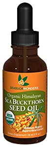 SeabuckWonders Organic Sea Buckthorn Seed Oil, 1 Ounce