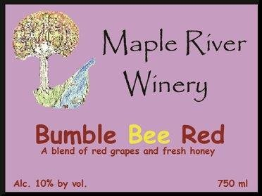 Bumble Bee Red Wine Red River Winery