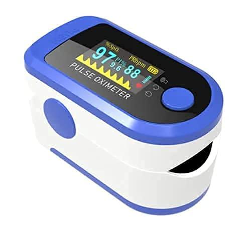 PHYSEMO D331126 Pulse Oximeter with Audio Visual Alarm, Bluetooth – Blue