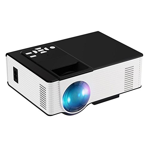 Joyhero VS314 1500Lumen HD 1080p Home Cinema Theater Multimedia LCD/LED Projector HDMI/TV/DVD/AV/USB/VGA White by Joyhero