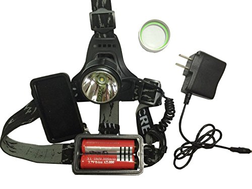 econoLED Outdoor Waterproof 1600lm Xm-l T6 LED Headlamp + 2 X 18650 Rechargeable Batteries + Charger