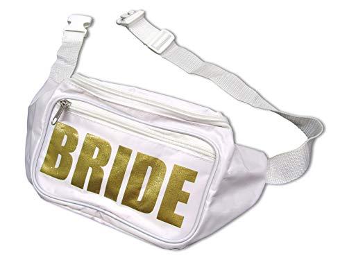 Funny Bone Products Bachelorette Party Bride Tribe Fanny Waist Pack Adjustable 2 Pocket Bachelorette Ideas Accessories (Bride)]()