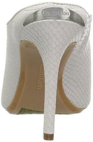White Dress Platinum Sandal Nola Women's Klein Calvin 6qxYZ76