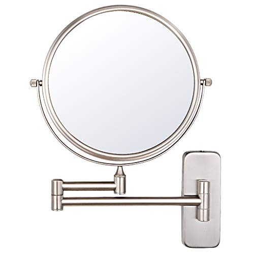 NiceVue Wall Magnifying Mirror Shaving Bathroom Mirror Folding Double Wall Mount Mirror -