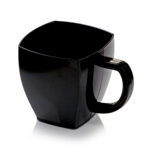 Black Plastic Cafe Cups - 5 oz - Disposable & Recyclable - Plastic Espresso Cup, Plastic Coffee Cup, Coffee Mug - 100 Count Box - Restaurantware
