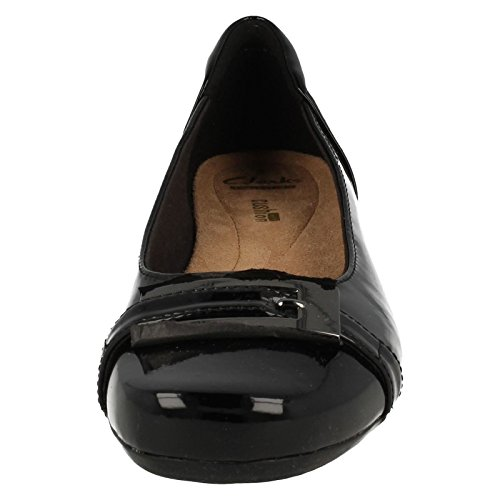 Casual Black 6 Patent Womens Blanche Shoes West Clarks 8gtqOCwn