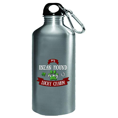 My Ibizan Hound Is My Lucky Charm Custom Dog Owner Gift - Water Bottle