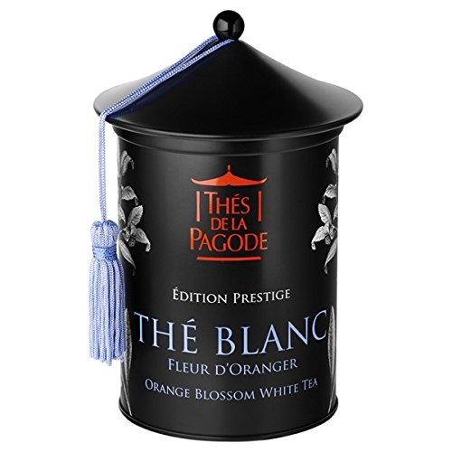 Thés De La Pagode, Edition Prestige, Thé Blanc Fleur d'Oranger - Orange Blossom Gourmet White Tea, 100 g Loose Tea, in Metal Tin, Imported by Thés De La Pagode