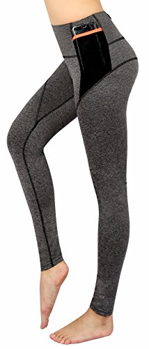 Neonysweets Women's Workout Leggings with Pocket Running Yoga Pants Gray M