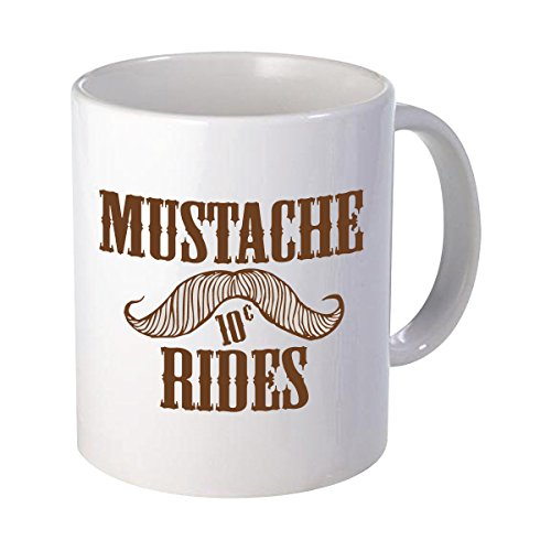 Mustache Rides Father's Day Gift Graphic Birthday Funny