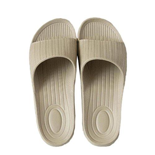 Douche Spa hommes Pantoufles Mule Chaussures bains khaki Slide on femmes pour Slip Pool Accueil anti salle de Doux Tongs dérapant Plage Sandales et de awqOXw8r