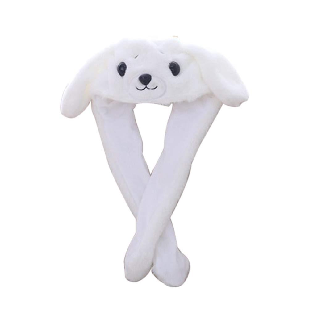 Aland Cute Plush Cartoon Dog Earflap Hat Winter Warm Air-Bag Ear-Lifting Girl Cap Toy