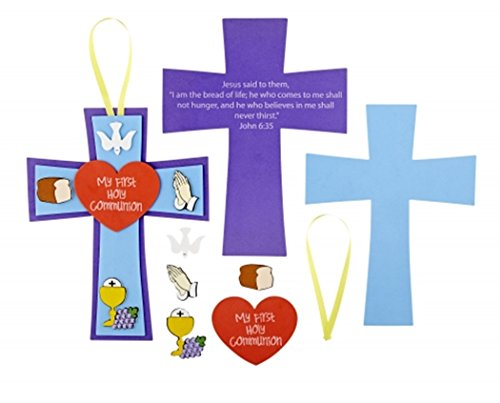 My First Holy Communion Cross Foam and Ribbon Arts and Crafts Kit, 9 Inch ()
