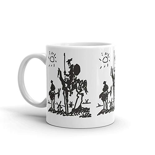 Pablo Picasso 11 Oz Ceramic Coffee Mugs With C-shape Handle, Comfortable To Hold. 11 Oz Ceramic Glossy Mugs Gift For Coffee Lover