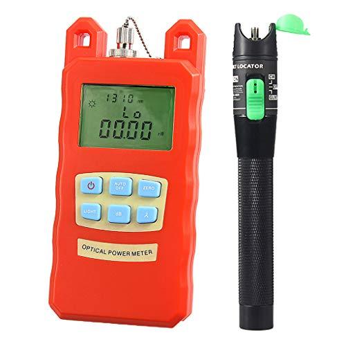 Prettyia Pack Portable Optical Fiber Power Meter Tester Measure -70dBm~+10dBm + 20mW 15KM Visual Fault Locator Fiber Tester Detector Meter Pen by Prettyia (Image #8)
