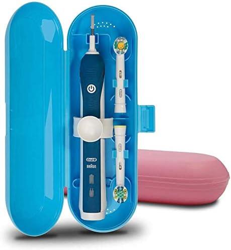 Cepillo de dientes eléctrico de plástico Estuche de viaje compatible con la serie Pro, 2 paquetes (azul y rosado): Amazon.es: Hogar