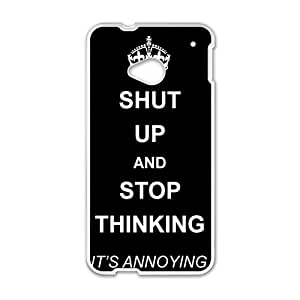 Shut up and stop thinking keep calm and pin Phone Case for HTC One M7