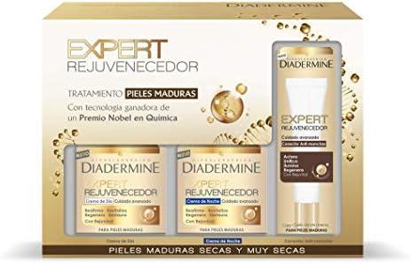 Diadermine Expert Rejuvenecedor crema de día, crema de noche y corrector anti-manchas - 1 Pack: Amazon.es: Belleza