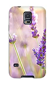 High Impact Dirt/shock Proof Case Cover For Galaxy S5 (lavender Flowers)