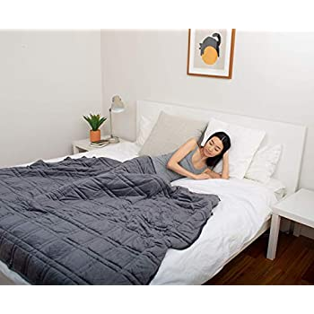 Image of Pine&River Chilled Bamboo Weighted Blanket - Perfect for Warmer Climates - | Chilled Bamboo- (60'x80', 15 lb) | Eco-Friendly and Sustainable Fabric | Enjoy Quality Sleep Anywhere (Cool Blue, 15) Pine and River B07PVZ5P12 Weighted Blankets