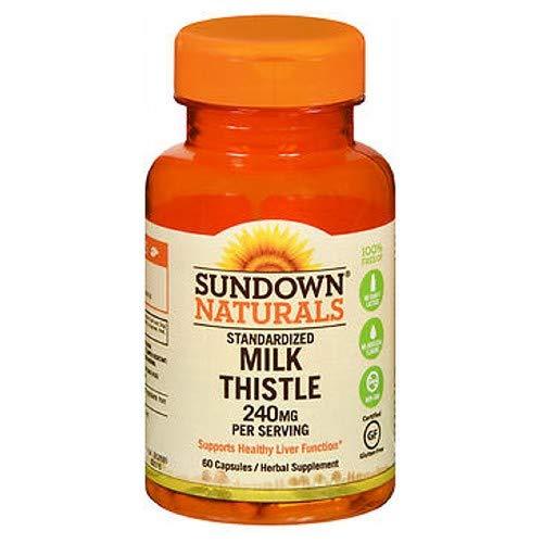 - Sundown Milk Thistle 240mg , 60 Capsules ea (Packs of 2)