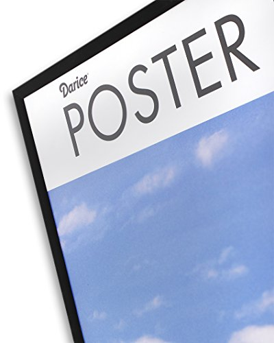 DAX N16018BT Coloredge Poster Frame with Plexiglas Window, 18 x 24, Clear Face/Black Border