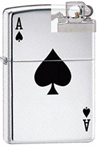 - Zippo 24011 Lucky Ace Lighter With Pipe Insert Pl