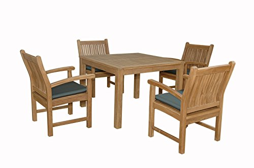 Anderson Teak Chatsworth Bistro Furniture Set with Dining Armchair, Maxim Heather (Anderson Teak Furniture)