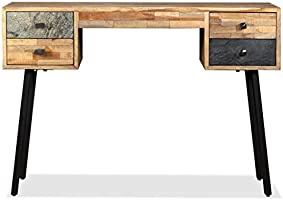 vidaXL Escritorio 110x50x76 cm Madera Teca Mesa Mesilla Mueble ...