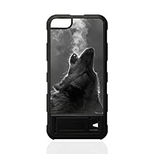 jany store123 store Custom Wolf black plastic Case for iphone 5 cover